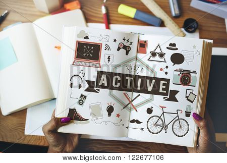 Active Energetic Action Fitness Health Lifestyle Concept