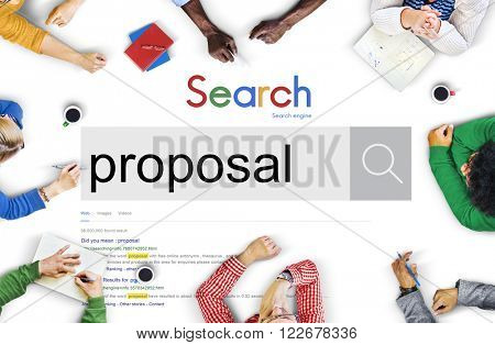 Proposal Proposition Asking Scheme Suggestion Concept