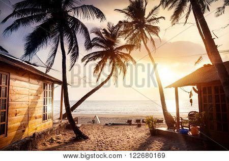 Beautiful Sunset At Tropical Beach