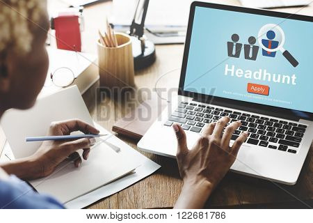 Headhunt Headhunting Hiring Human Resources Concept