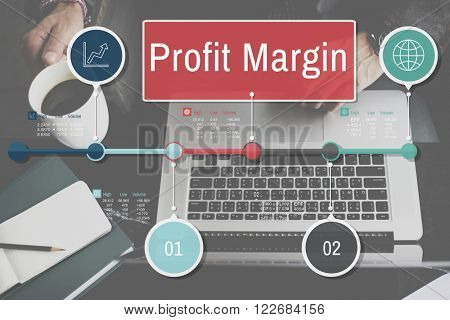 Profit Margin Finance Income Sales Revenue Accounting Concept