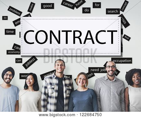 Contract Agreement Business Deal Employment Concept