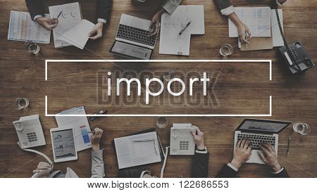 Import Transfer Freight Logistics Concept