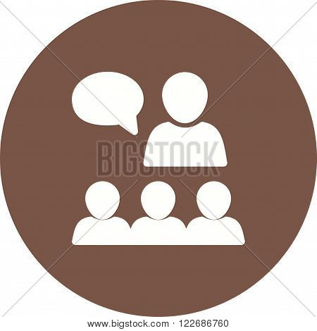 Lecture, university, education icon vector image. Can also be used for schooling. Suitable for use on web apps, mobile apps and print media.