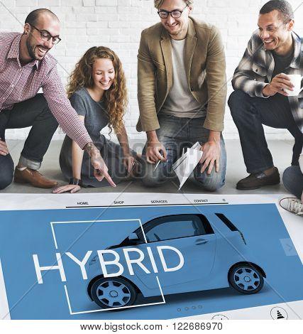 Hybrid Ecology Technology Save Energy Concept