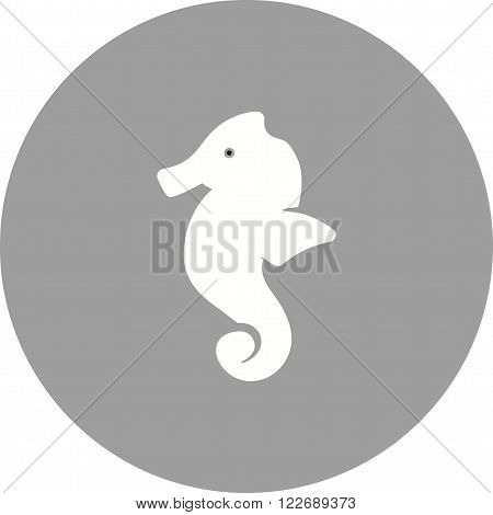 Sea, horse, seahorse icon vector image. Can also be used for sea. Suitable for use on web apps, mobile apps and print media.