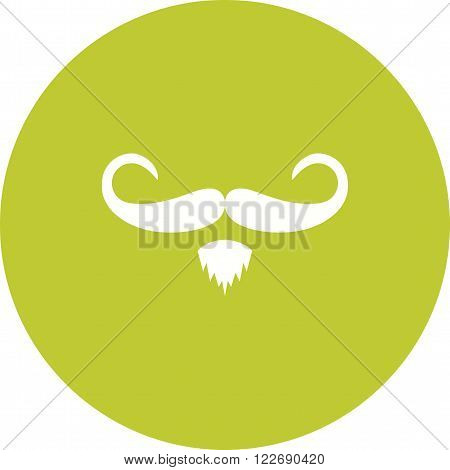 Hipster, moustache, man icon vector image. Can also be used for hipster. Suitable for use on web apps, mobile apps and print media.