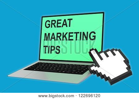 Great Marketing Tips Concept
