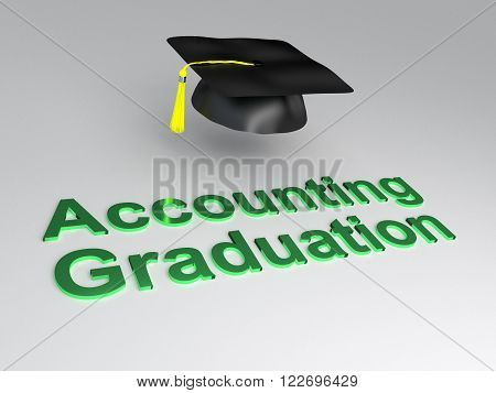 Accounting Graduation Concept