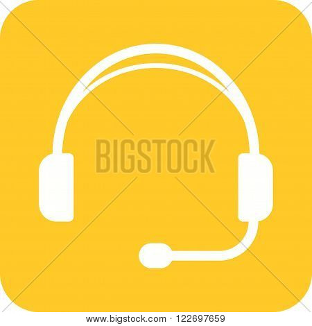 Headphones, playing, listening icon vector image.Can also be used for games entertainment. Suitable for mobile apps, web apps and print media.
