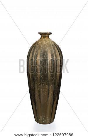 Empty Gold Mercury Glass Vase