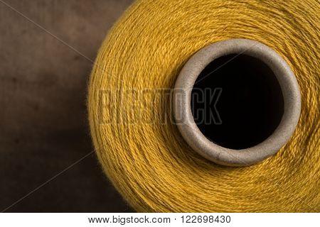 Yellow Thread Spool Hole