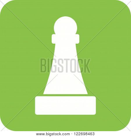 Pawn, chess, game icon vector image. Can also be used for games entertainment. Suitable for web apps, mobile apps and print media.