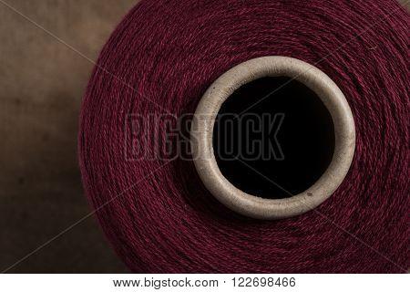 Maroon Thread Spool Hole