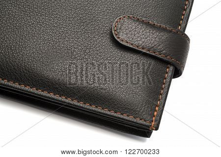 Black Leather Wallet With Latch
