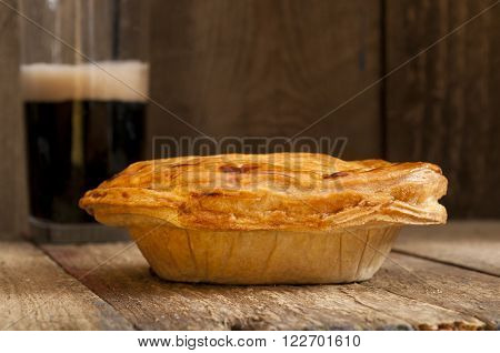 Pie With Glass Of Beer