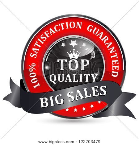 Big Sales. Top quality. 100% Satisfaction guaranteed - black with red shiny glossy icon