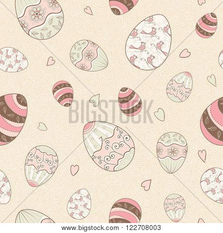Easter seamless pattern, vector illustration