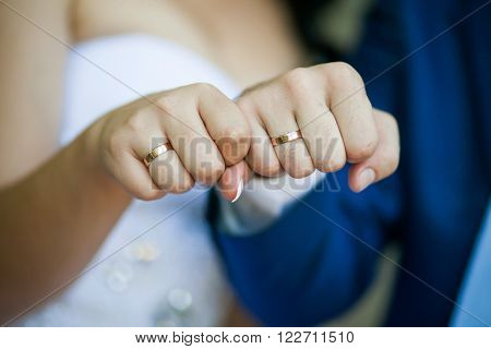 Fists Of Bride And Groom