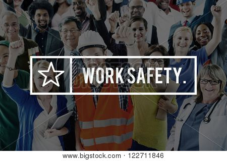 Work Safety Helmet Hardhat Manual Protective Concept