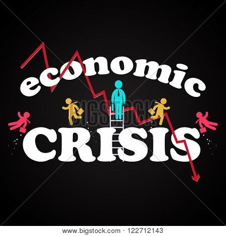 Economic crisis illustration template for commercial and private use