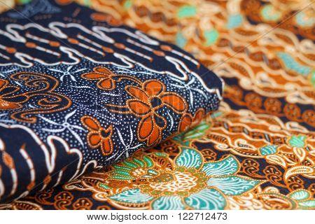 Beautiful pattern of Malaysian and Indonesian batik. ** Note: Shallow depth of field