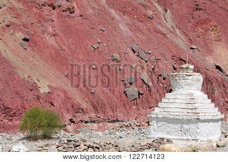 Stupa in the Himalayas (Buddhistic symbol) - Zanskar, Ladakh