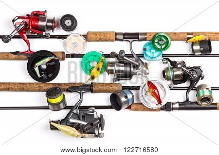 Composition From Different Fishing Tackles