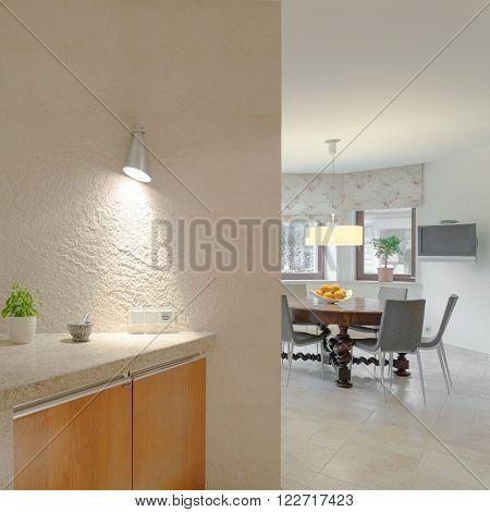 Modern Kitchen With Professional Equipment