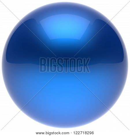 Sphere ball button circle round basic solid bubble figure geometric shape minimalistic simple atom element single blue cyan shiny glossy sparkling object blank balloon icon. 3d render