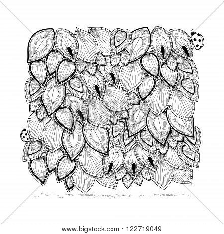 Elegant Leaves Coloring Page