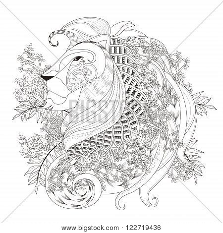 Attractive Lion Coloring Page