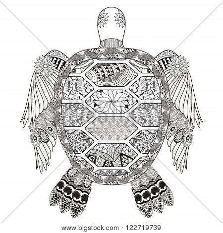 Fantastic Turtle Coloring Page