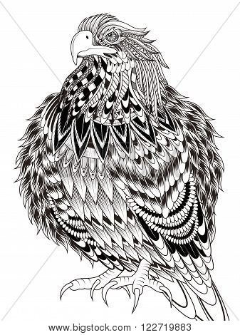Imposing Eagle Coloring Page