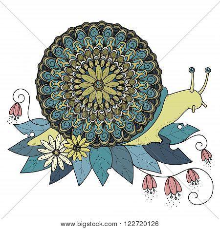 Sumptuous Snail Coloring Page