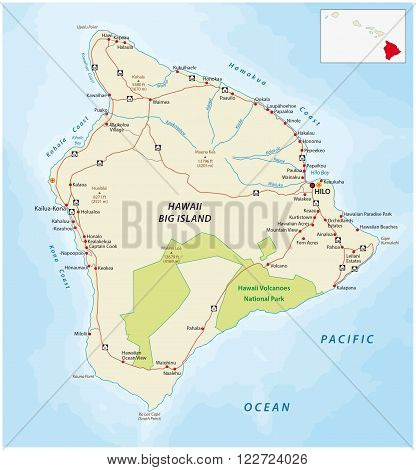 detailed street map of the Hawaiian islands big Iceland, Hawaii