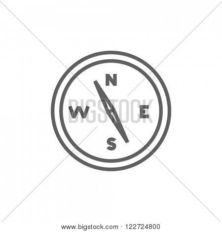 Compass line icon.