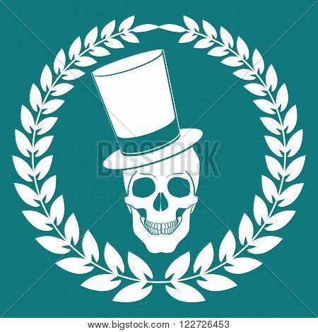 Cartoon Vector skull joker vector illustration eps 10