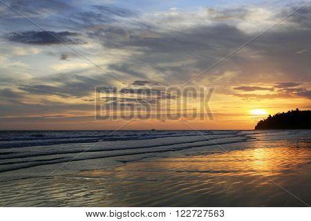 Sunset in Kota Kinabalu. Sabah Borneo, Malaisia