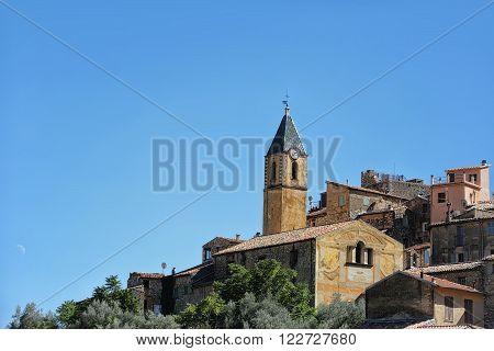 Medieval Castle And Clock Tower