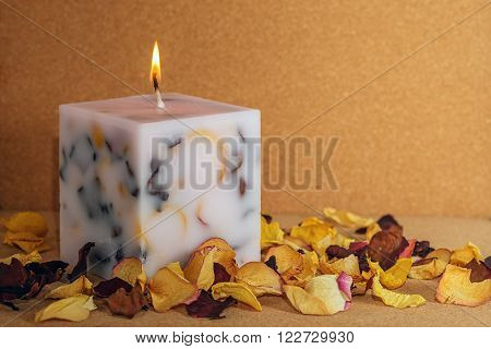 Handmade Candle In The Shape Of A Cube