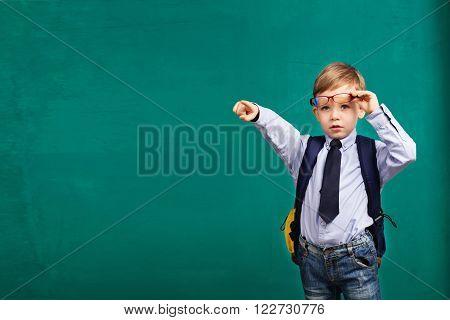 Boy Points A Finger