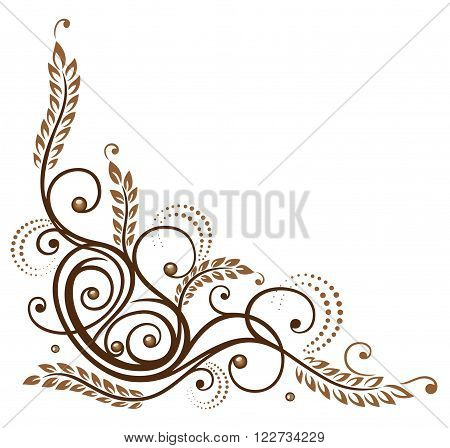 Vector design with cereal and pretzel. Decoration for bakers.