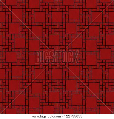 Black and Red Square Abstract Geometric Design Tile Pattern Repeat Background that is seamless and repeats