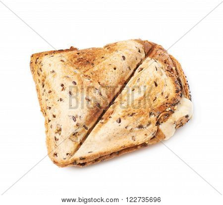 Press toasted sandwich panini isolated over the white background