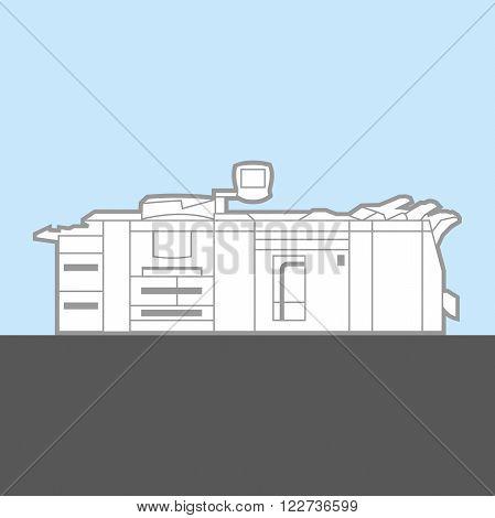 professional copy machine - color vector illustration