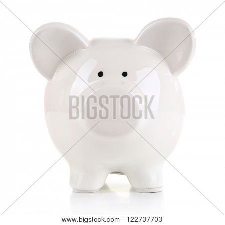 Piggy bank, isolated on white