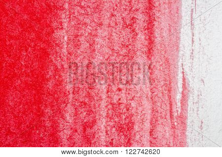 Abstract hand drawn red watercolor paints background