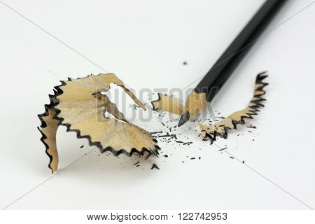 Close Up Of A Pencil Being Sharpened