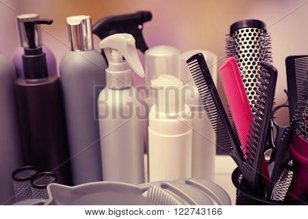 Professional hairdresser tools